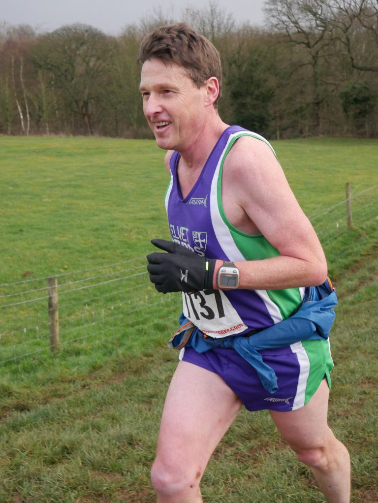 Dougie Nisbet in Captain Cooks Fell Race. Photo by Dave Aspin.