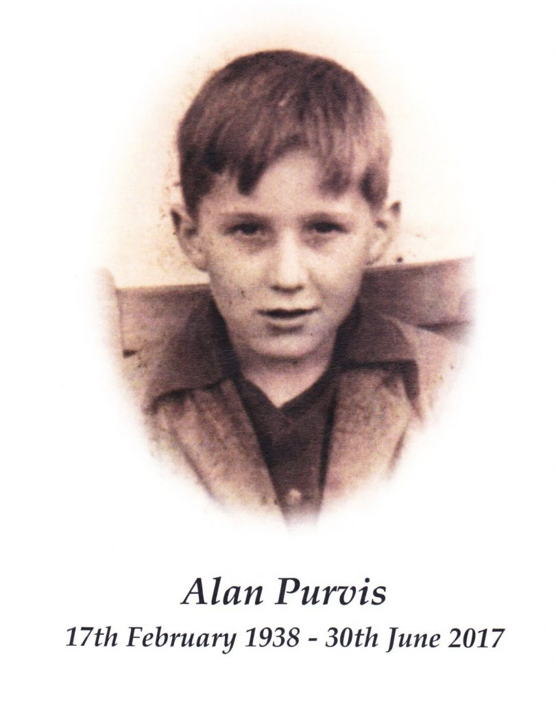 Alan Purvis: 17th February 1938 to 30th June 2017