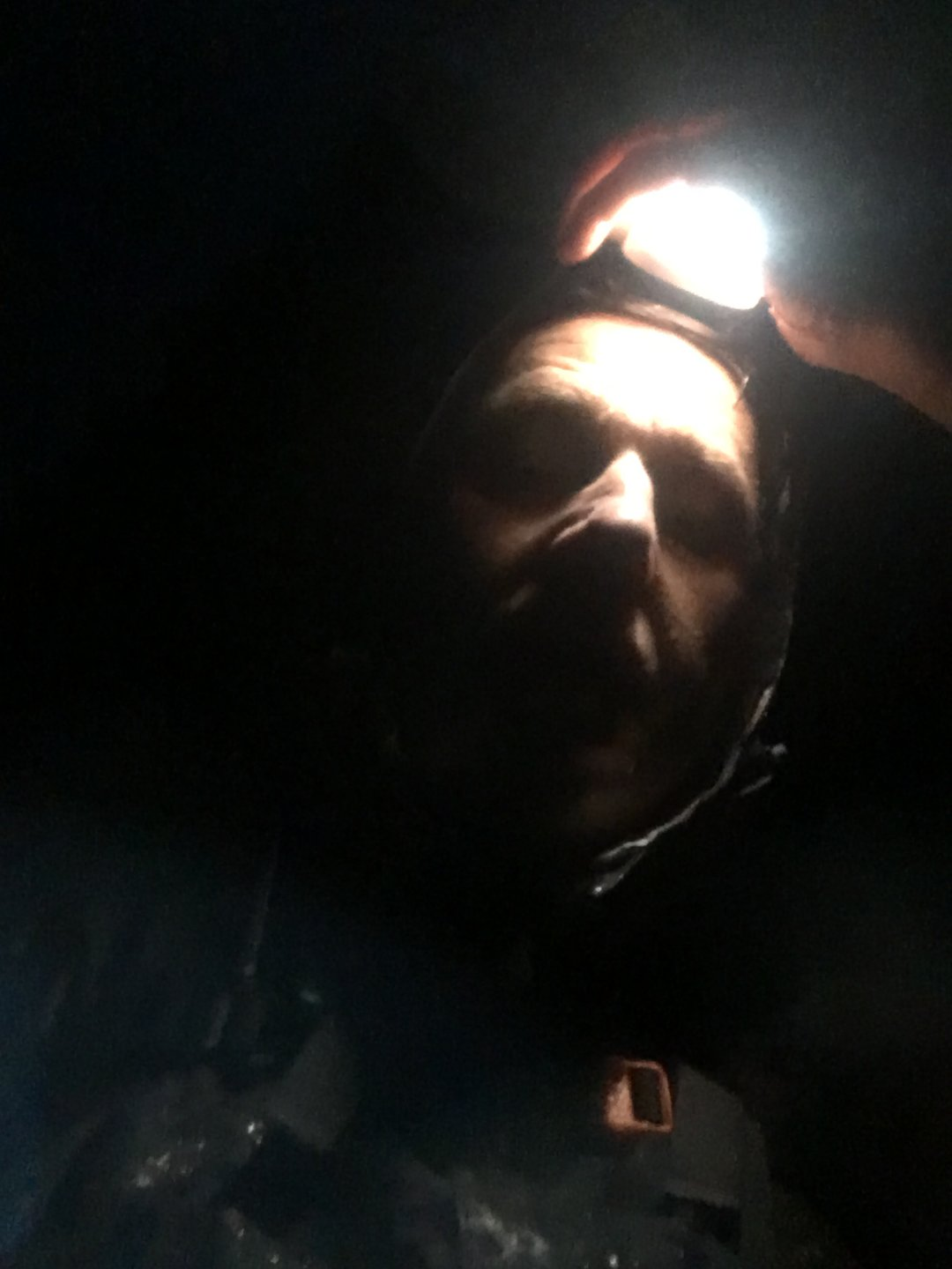 One man and his headtorch