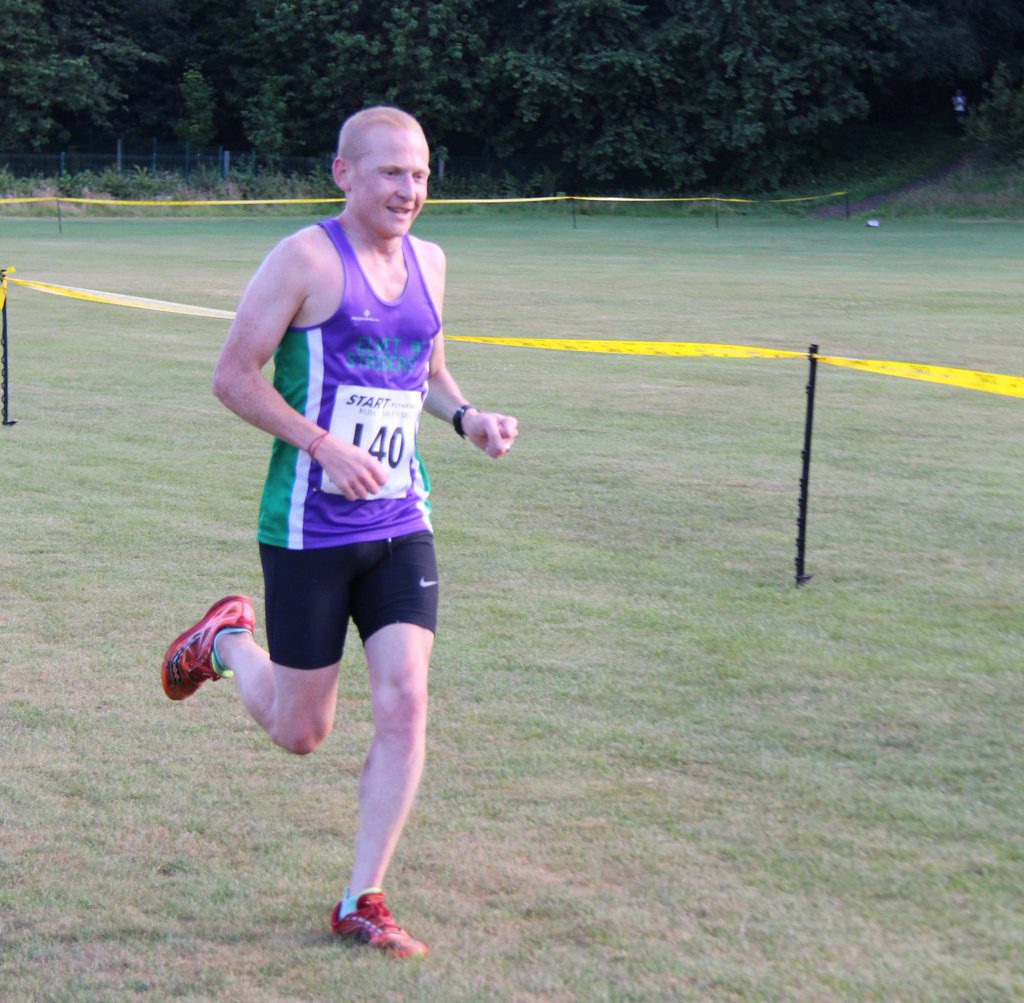 Stephen Jackson winning the 2018 Willow Miner Trail Race