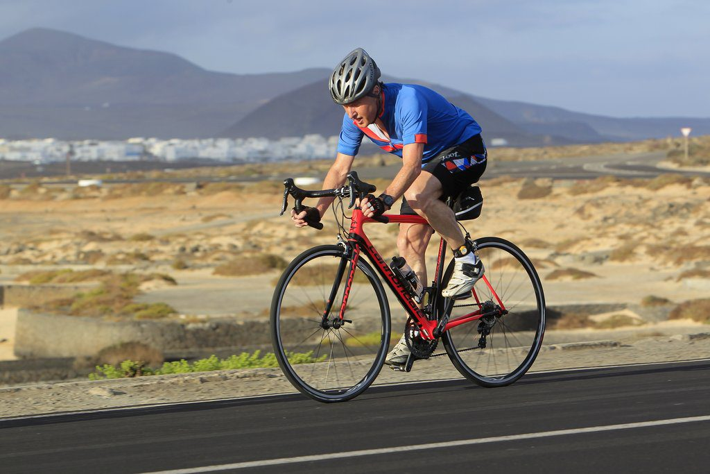 Around the lagoon on the Club La Santa duathlon
